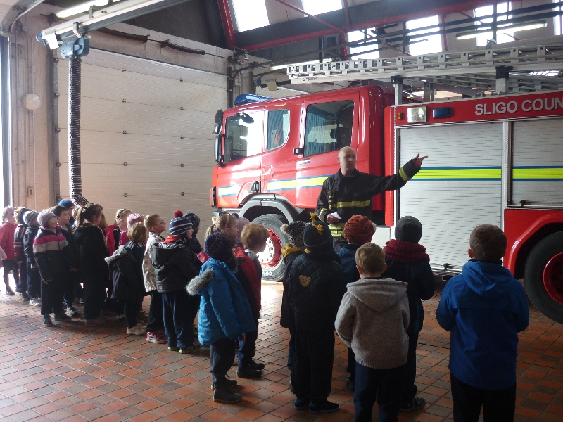 Fire Station Visit Ransboro National School Sligo
