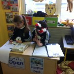 Receptionists busy at work