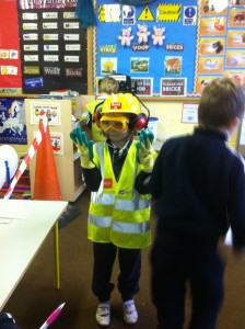 All the Safety gear on!