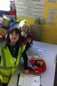 Checking the fire safety equipment!