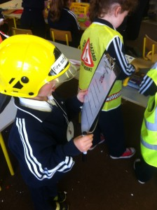 Fire Safety Officer with his checklist!
