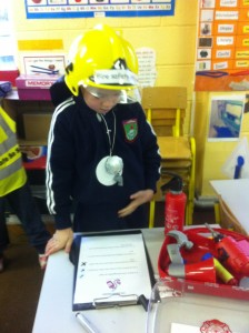 A Fire Safety Officer busy at work!