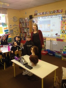 A visit from Hairdresser Molly!